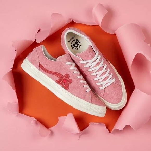 c6842c13f3d Women s Converse Pink Golf Le Fleur Sneakers